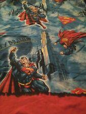 Super Man Twin Flat Sheet  Vintage Craft Fabric (C2)