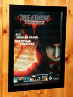 Dirge of Cerberus Final Fantasy VII 7 Rare Small Poster / Old Ad Page Framed PS2