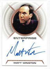 Star Trek Enterprise Autograph Matt Winston A18 Daniels