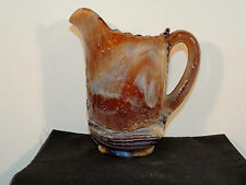 Imperial End of Day Slag Caramel Windmill IG Pitcher (6236)