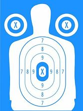 Blue Police Pistol & Rifle Human Silhouette Shooting Targets - 19x25 - 31 Qty.