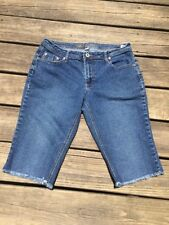 Cato Cut off Blue Jean Shorts Size 10P Womens