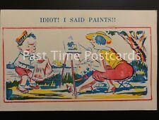 "Early PC - Donald Mc Gill Comics ""IDIOT! I SAID PAINTS"""