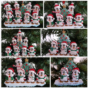 Personalised Christmas Tree Decoration Penguin Family By The Christmas Tree 2-8