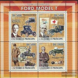 Sao Tome e Principe 3292-3295 Kleinbogen (kompl.Ausg.) postfrisch 2008 Ford Mode