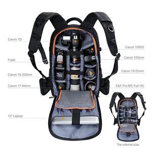 K&F Concept DSLR Camera Backpack Bag Case Waterproof Large Capacity Rain Cover