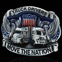 Men's Fashion Truck Drivers Vintage Cowboy Western Alloy Metal Belt Buckle NEW