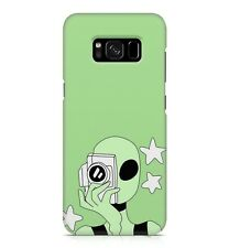Extraterrestrial Green Alien Camera Selfie Galaxy White Stars Phone Case Cover