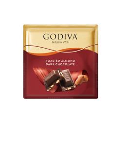 6 package of 60g : 360g Godiva roasted almond dark CHOCOLATE Turkish