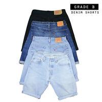 Mens Vintage Levi Strauss Denim Shorts (Grade B) Levis 28,29,30,31,32,33,34,36,3