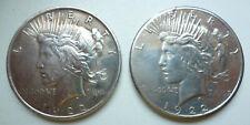 USA 2x 1 Dollar 1922 und 1922 S Peace Dollar Silber