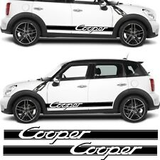 BMW Mini Cooper stripes fits modern & old Cooper decals stickers  any colour