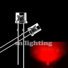 50pcs 5mm Water Clear Flat top Red LED Wide Angle Flat Head Light lamp