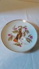 2 Vintage Lipper and Mann Creations Japan Collectors Plates Birds with Flowers