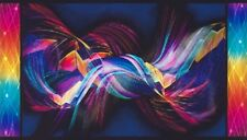 """Intensity"" Panel By Robert Kaufman-Bright-Digital Print-Rainbow Colors"