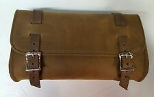 Genuine Leather Brown Motorcycle Tool Bag - American Made