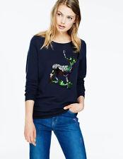 NWT: BODEN Navy Crewneck Sweater with Sequin Reindeer, US 18/ UK 22