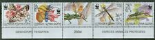 Serbia & Montenegro 2004 WWF Insects on Strip of Four Stamps + Label MNH