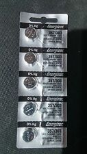 5 Brand New Energizer Watch Battery 357/303  (Replaces all EPX76, SR44SW, SR44W)