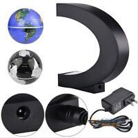C shape LED World Map Decoration Magnetic Levitation Floating Globe Light Decor