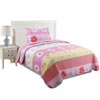 2pcs Kids Quilt Bedspread Comforter Set Throw Blanket for Boys Girls A33 quilt