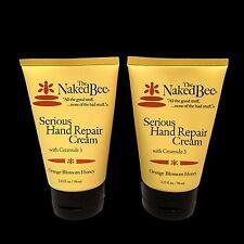 The Naked Bee Serious Hand Repair Cream Lotion 2 Pack Orange Blossom Honey
