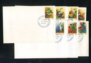 AUSTRALIA 1978 AUSPOST PSE FDCs No.001-007  Birds  St Marys NSW FDI (s)
