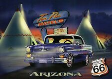 Route 66, Tee Pee Hotel, Oldtimer Car, The Mother Road, Arizona, AZ --- Postcard