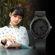Vintage Ebony wooden watch wood dial quartz watches Men Women Couple Watch LE