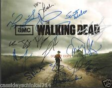 "The Walking Dead AMC TV Show Reprint Signed 8x10"" Cast Photo #3 RP"