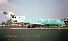 """Braniff International Boeing 727-27C N7270 in 1966 8""""x12"""" Color Print"""