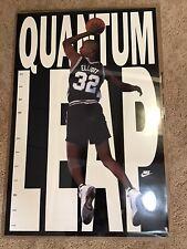 Rare Htf Nike Sean Elliott Quantum Leap San Antonio Spurs Poster