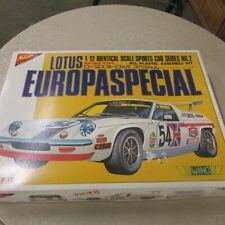 Nichimo Lotus Europa Special 1:12 Scale Model Car Kit. NIB