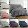 PINTUCK PLEATED DUVET COVER 100% EGYPTIAN COTTON DOUBLE KING SIZE BEDDING SETS