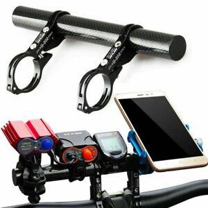MTB Bike Bicycle Double Handlebar Control Center Computer Mount 31.8mm Black New