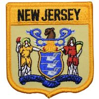 """New Jersey Patch - Trenton, Newark, Delaware River, Jersey Shore 2.75"""" (Iron on)"""