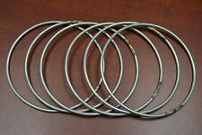 "6 PCS CAST IRON METAL DREAMCATHER RINGS MACRAME HOOP CRAFT 5"" #F-1155"