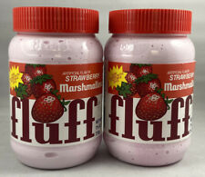 2x Fluff Marshmallow Strawberry Flavour 212g USA Import