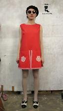 Ken Robes Damen Overall Mini Kleid 60er True VINTAGE 60s women's dress Twiggy
