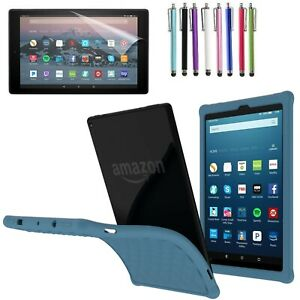 For Amazon Fire 7 / HD 8 / HD 10 Anti-slip Shock Proof Gel Rubber Silicone Cover