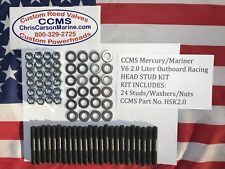CCMS Mercury/Mariner Racing Outboard V6 2.0 Liter Head Stud Kit PN HSK2.0