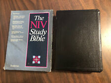 NIV 1984 Study Bible - Black Genuine Top Grain Leather - OOP 84
