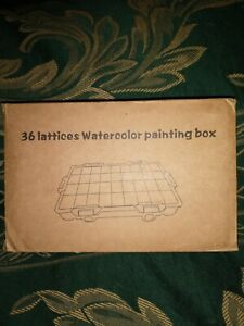 36 Lattices Portable Watercolor Painting Box Palette Waterproof Plastic Box NEW