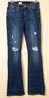 ROCK & REPUBLIC Jeans STRETCH Womens KASANDRA Bootcut DISTRESSED Shredded 2 4 NW