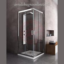 BOX CABINA DOCCIA BAGNO QUADRATO 70X70 CROMO LASTRA EASYCLEAN TRASPARENTE 6 MM
