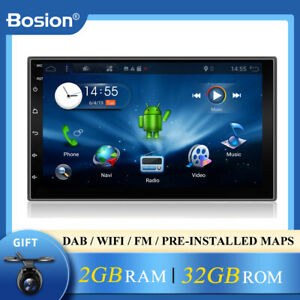 """7"""" 2 DIN Car Stereo Navi GPS MP5 MP4 USB Player Bluetooth AUX Android 10.0+32gb"""