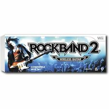 SEALED NEW Nintendo Wii ROCK BAND 2 Fender Wireless GUITAR 4 Collector Sunburst