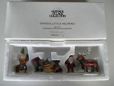 "NEW HERITAGE VILLAGE COLLECTION ""SANTA'S LITTLE HELPERS"" #5119 (DEPARTMENT 56)"