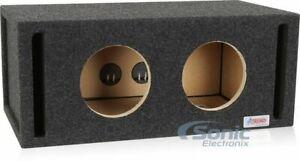 "Atrend 8DQV Pro Series Dual 8"" Vented Bass Subwoofer Enclosure Sub Box"