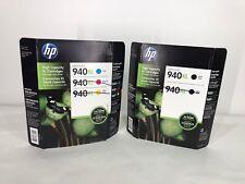 GENUINE - HP 940XL - High Yield Color Ink Cartridge - CYAN & BLK exp. 8/18 12/17